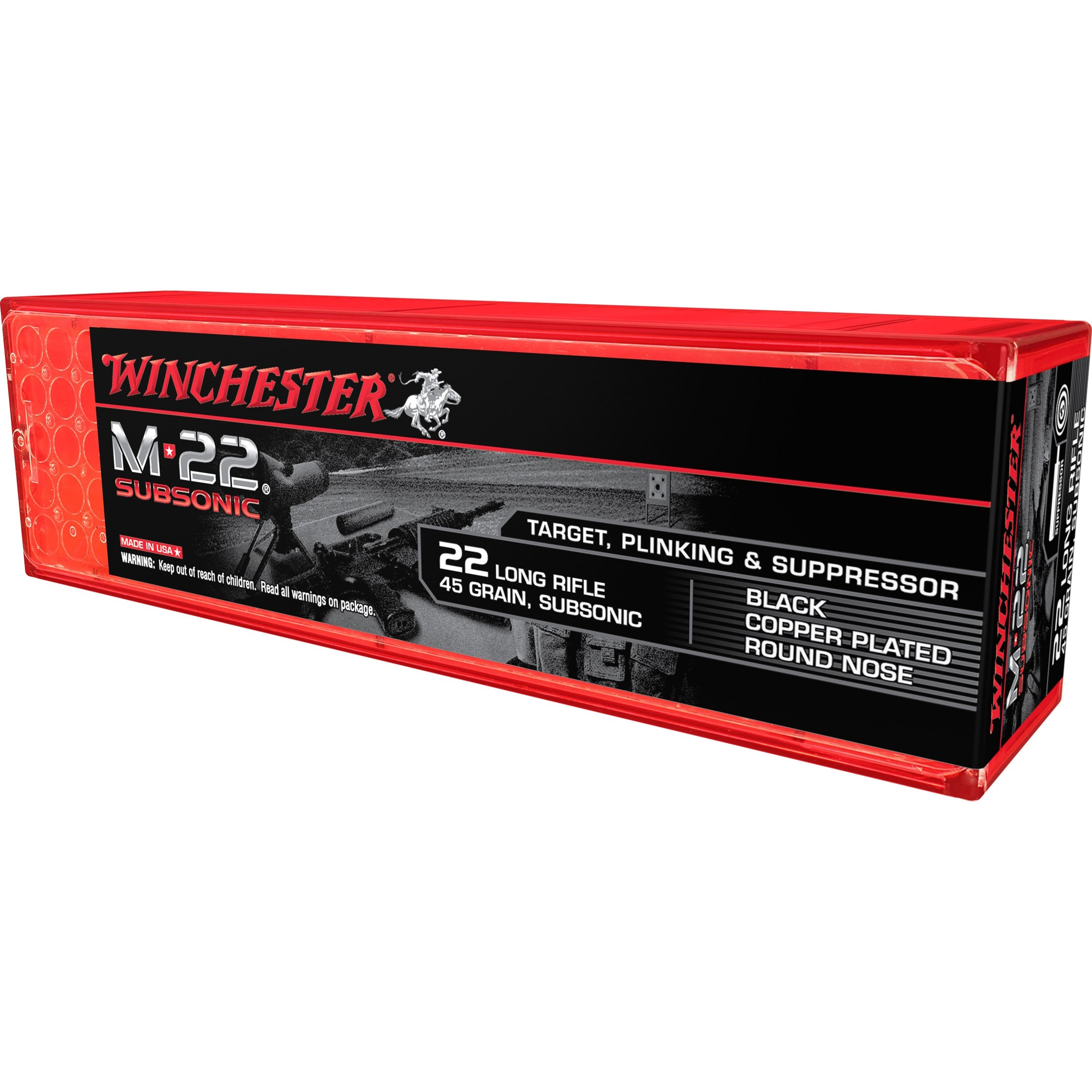 Winchester M22 Subsonic 22 Long Rifle 100rd Ammo
