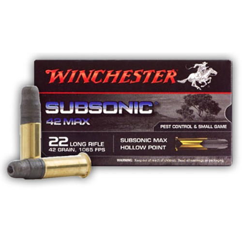 Winchester SubSonic 42 Max 22 Long Rifle 50rd Ammo