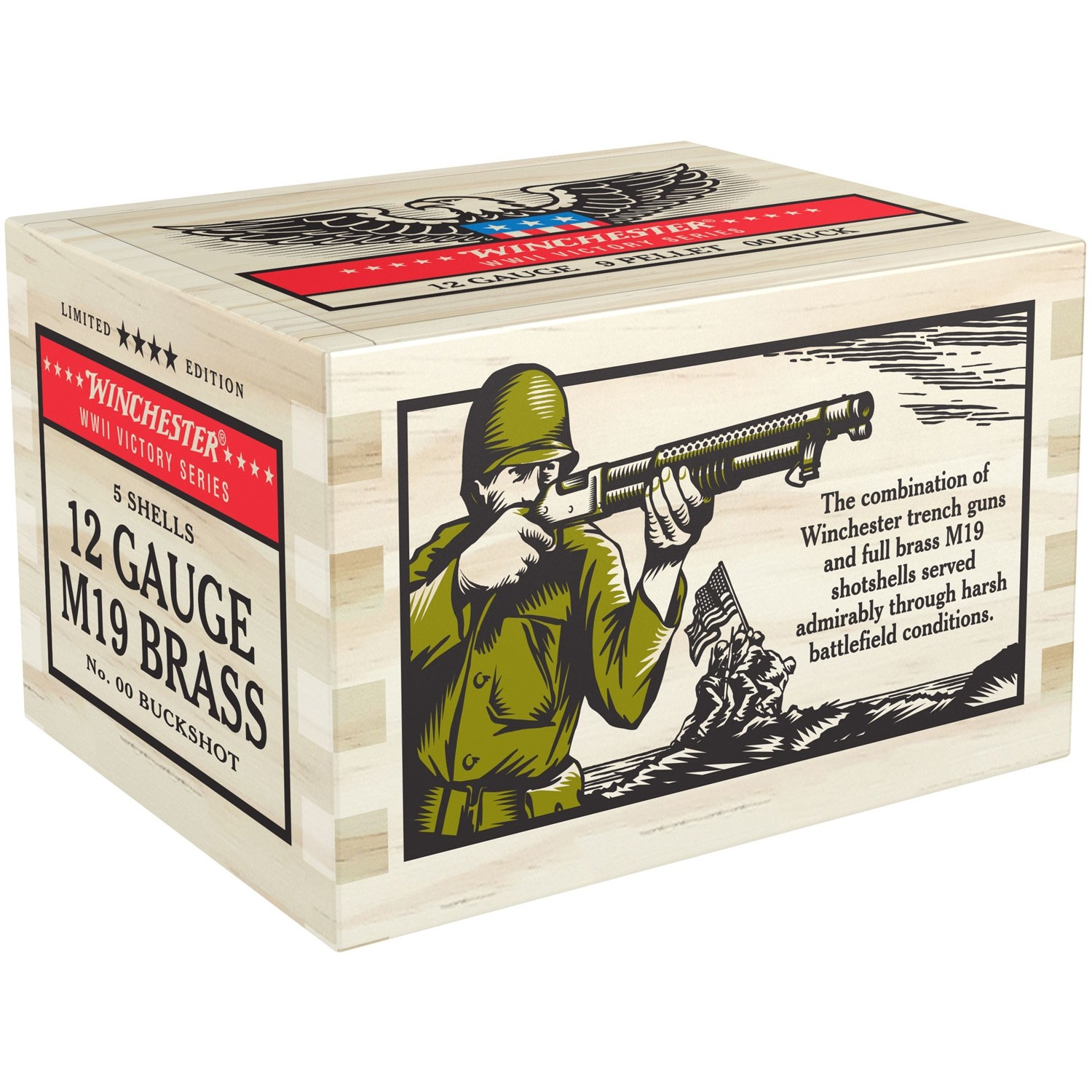 Winchester WWII Victory Series 12 Gauge 00 Buck 5rd Ammo