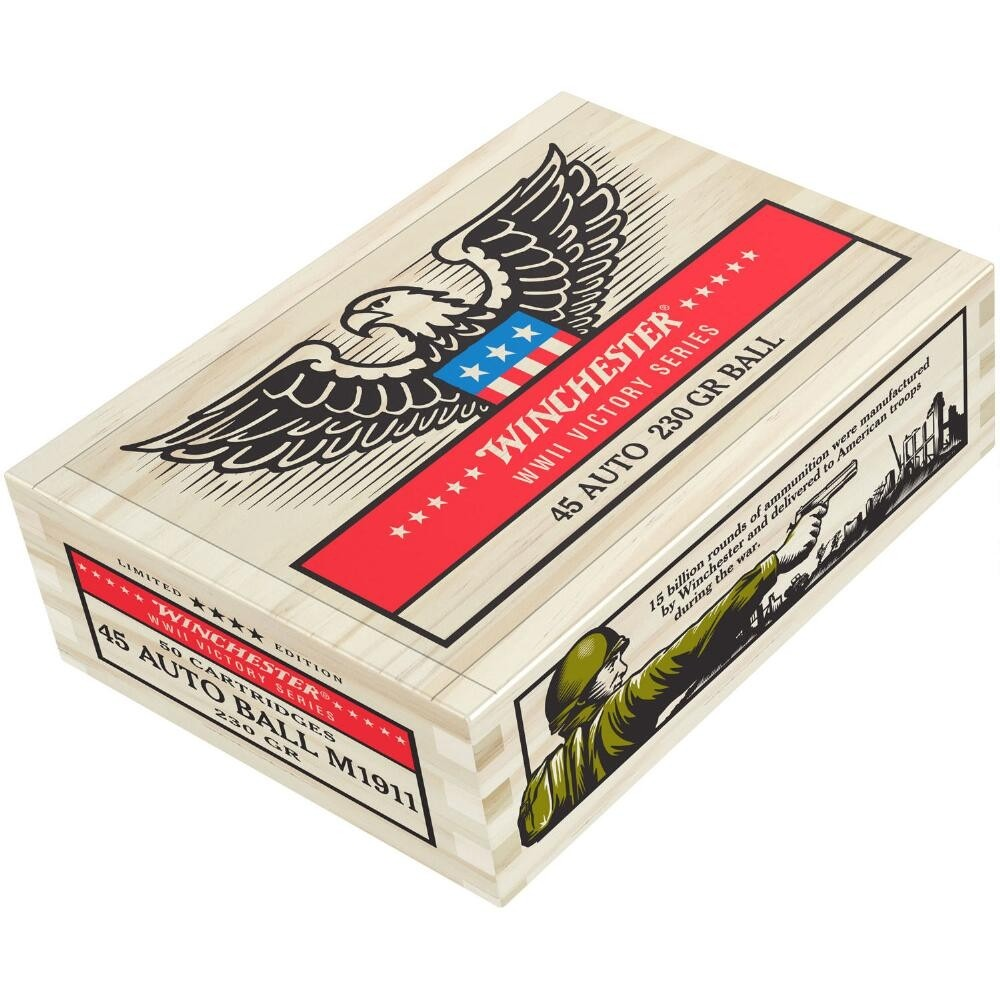 Winchester WWII Victory Series 45 ACP 50rd Ammo