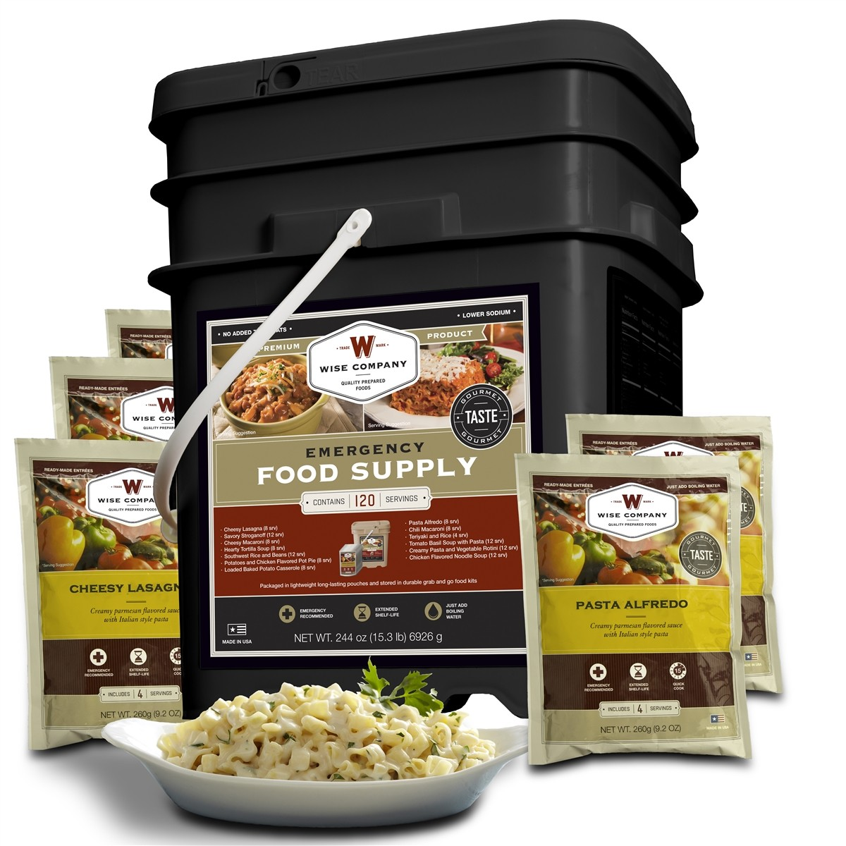Wise Foods 120 Serving Entree Only Package