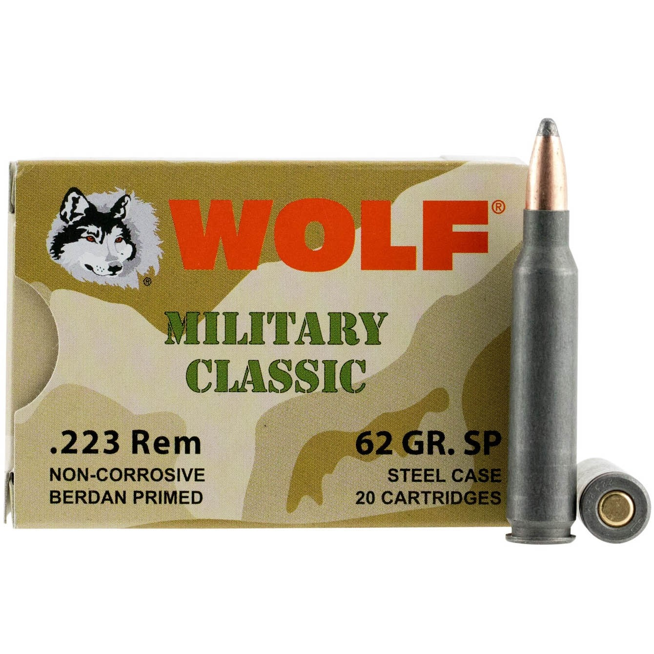 Wolf Military Classic 223 Remington 20rd Ammo