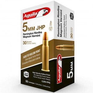 Aguila Performance 5mm Remington Rimfire Magnum 50rd Ammo