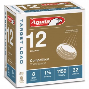Aguila Competition Target Load 12 Gauge 8 Shot 25rd Ammo