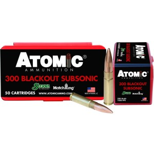 Atomic Subsonic 300 AAC Blackout 50rd Ammo