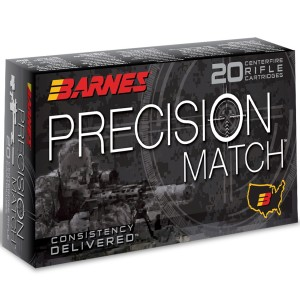 Barnes Precision Match 260 Remington 20rd Ammo