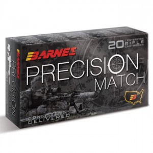 Barnes Precision Match 5.56x45mm 20rd Ammo