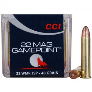 CCI GamePoint 22 Winchester Magnum Rimfire 50rd Ammo