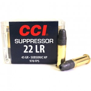 CCI Suppressor 22 Long Rifle 50rd Ammo