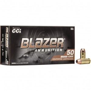 Blazer Brass 40 Smith & Wesson 50rd Ammo