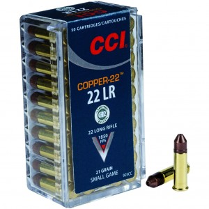 CCI Copper-22 22 Long Rifle 50rd Ammo