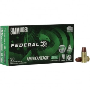 Federal American Eagle IRT LF 9mm Luger 50rd Ammo