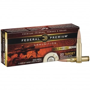 Federal Gold Medal Berger 223 Remington 20rd Ammo