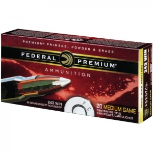 Federal Nosler 243 Winchester 20rd Ammo
