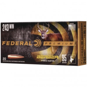 Federal Berger 243 Winchester 20rd Ammo
