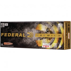 Federal Barnes 270 Winchester Short Magnum 20rd Ammo
