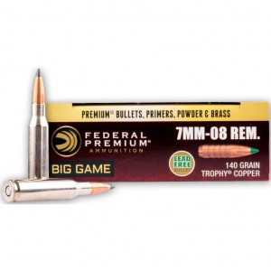 Federal Trophy Copper 7mm-08 Remington 20rd Ammo
