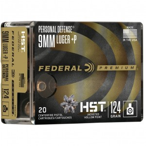 Federal Personal Defense HST 9mm Luger +P 20rd Ammo
