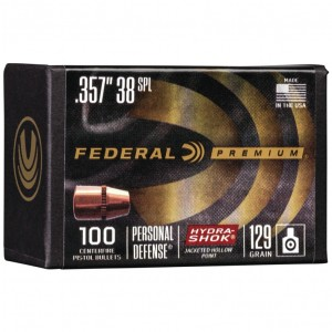 Federal Personal Defense 38 Special 100rd Bullet
