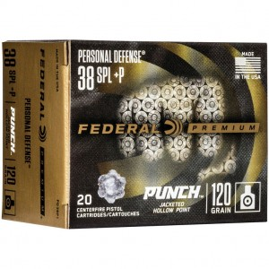 Federal Personal Defense Punch 38 Special +P 20rd Ammo