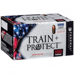 Federal Train + Protect 9mm Luger 100rd Ammo
