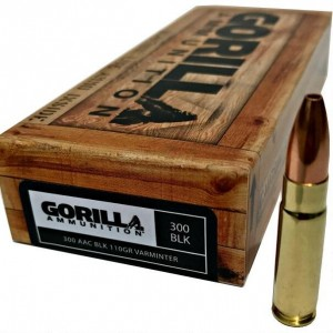 Gorilla Hunt 300 AAC Blackout 20rd Ammo