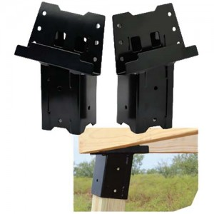 HME 4x4 Steel Blind Post Brackets