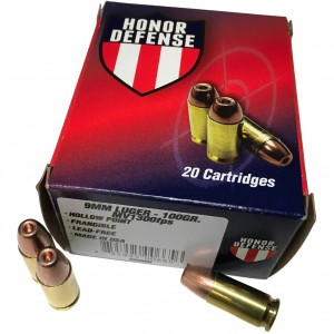 Honor Defense Handgun 9mm Luger 20rd Ammo