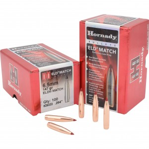 Hornady ELD Match 6.5mm Caliber 100rd Bullet