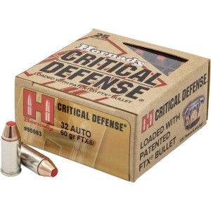 Hornady Critical Defense 32 ACP 25rd Ammo