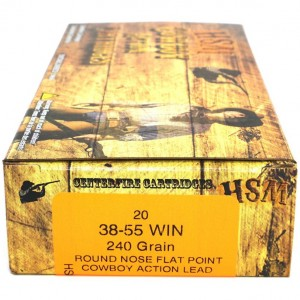 HSM Cowboy Action 38-55 Winchester 20rd Ammo