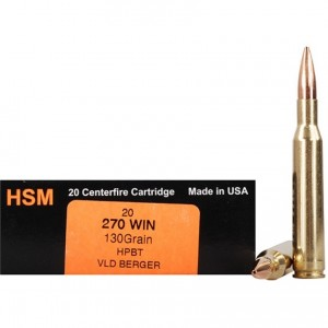 HSM Trophy Gold 270 Winchester 20rd Ammo