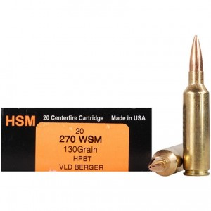 HSM Trophy Gold 270 Winchester Short Magnum 20rd Ammo
