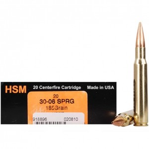 HSM Trophy Gold 30-06 Springfield 20rd Ammo