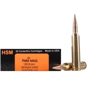 HSM Trophy Gold 7mm Remington Magnum 20rd Ammo