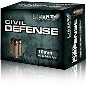 Liberty Civil Defense 10mm Auto 20rd Ammo