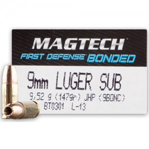 Magtech First Defense 9mm Luger 50rd Ammo