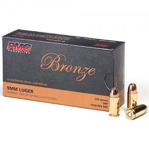 PMC Bronze 9mm Luger 50rd Ammo