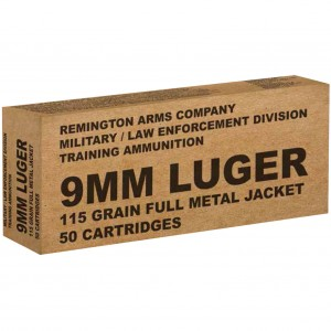 Remington Military / Law Enforcement 9mm Luger 50rd Ammo