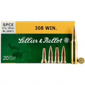 Sellier & Bellot Rifle 308 Winchester 20rd Ammo