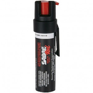 Sabre Black Compact Pepper Spray with Clip