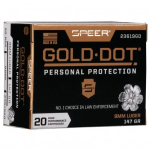 Speer Gold Dot Personal Protection 9mm Luger 20rd Ammo