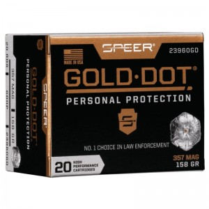Speer Gold Dot Personal Protection 357 Magnum 20rd Ammo