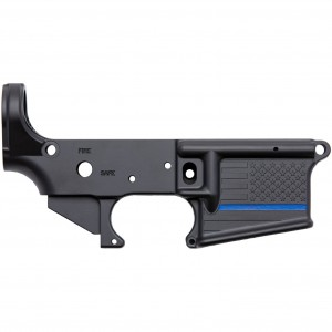 Spike's Tactical Thin Blue Line Stripped Lower Receiver