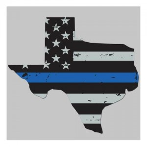 United States Tactical Thin Blue Line Texas Flag Sticker