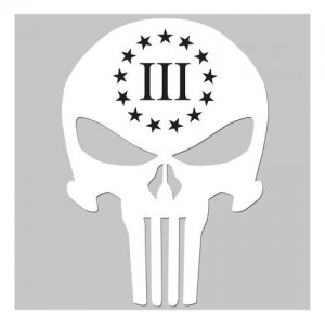 United States Tactical 3 Percenter Skull Sticker