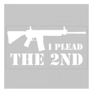 United States Tactical I Plead The 2nd Sticker