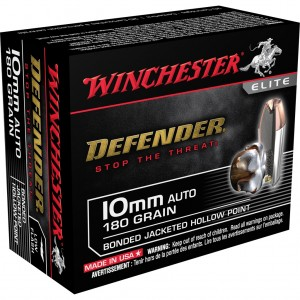 Winchester Defender 10mm Auto 20rd Ammo