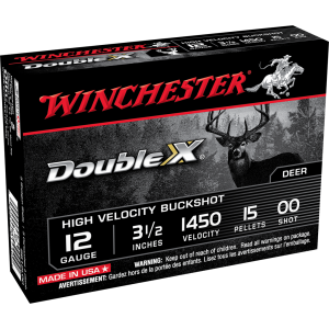 Winchester Double X High Velocity 12 Gauge 00 Shot 5rd Ammo