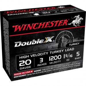Winchester Double X High Velocity 20 Gauge 5 Shot 10rd Ammo